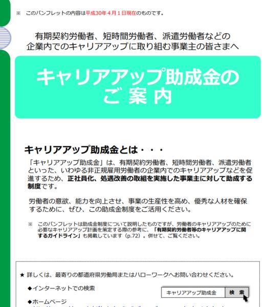 例:キャリアアップ助成金/正社員コース